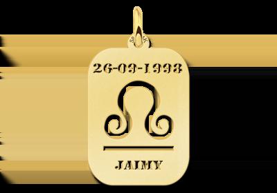 Gouden Naamhangertje astrologie Weegschaal