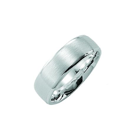 TekstRing Zilver Voor Heren Met Hoogglans Afwerking Rand 6.5mm Model Cambridge
