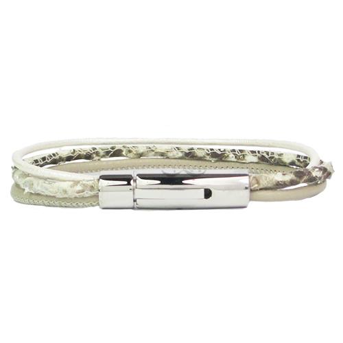 Graveer Hier☝️Jouw Armband Gepersonaliseerd Met Naam Of Tekst Model Leren armband B&L slang ruw ✅