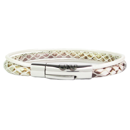Graveer Hier☝️Jouw Armband Gepersonaliseerd Met Naam Of Tekst Model Leren armband B&L met 3 banden ✅