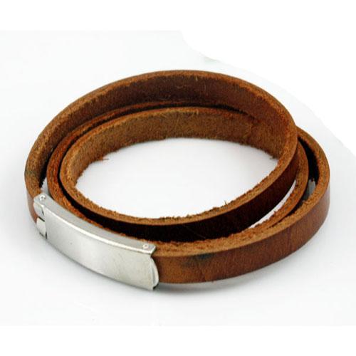 Graveer Hier☝️Jouw Armband Gepersonaliseerd Met Naam Of Tekst Model Wikkelarmband met plaat ✅