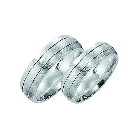 TekstRing Zilver Voor Koppels Met Matte Afwerking Met Groeven 6mm Model Montreal