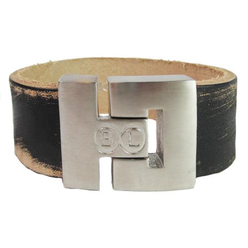 Graveer Hier☝️Jouw Leren Armband Gegraveerde Sluiting Met Naam Of Tekst Model lederen ruwe armband B&L ✅