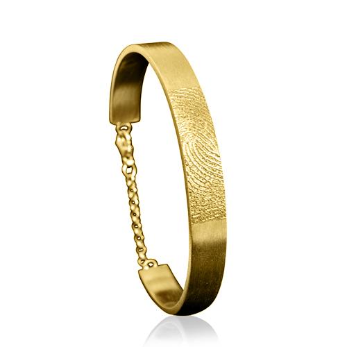 Graveer Hier☝️Jouw Gouden Slaafarmband Open Met Vingerafdruk ✅
