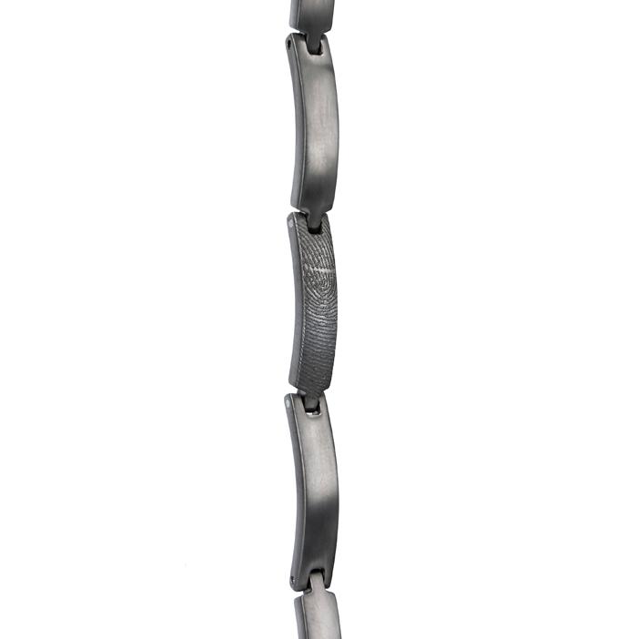 Gegraveerde Schakel Armband Met Vingerafdruk 5mm