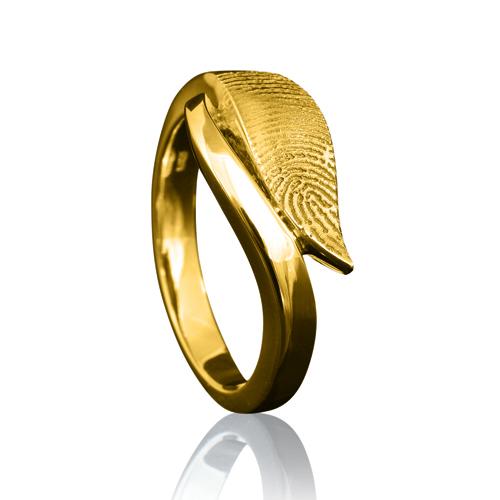 Gegraveerde Gouden Ring 10mm Design Met Vingerafdruk Model Mumbai